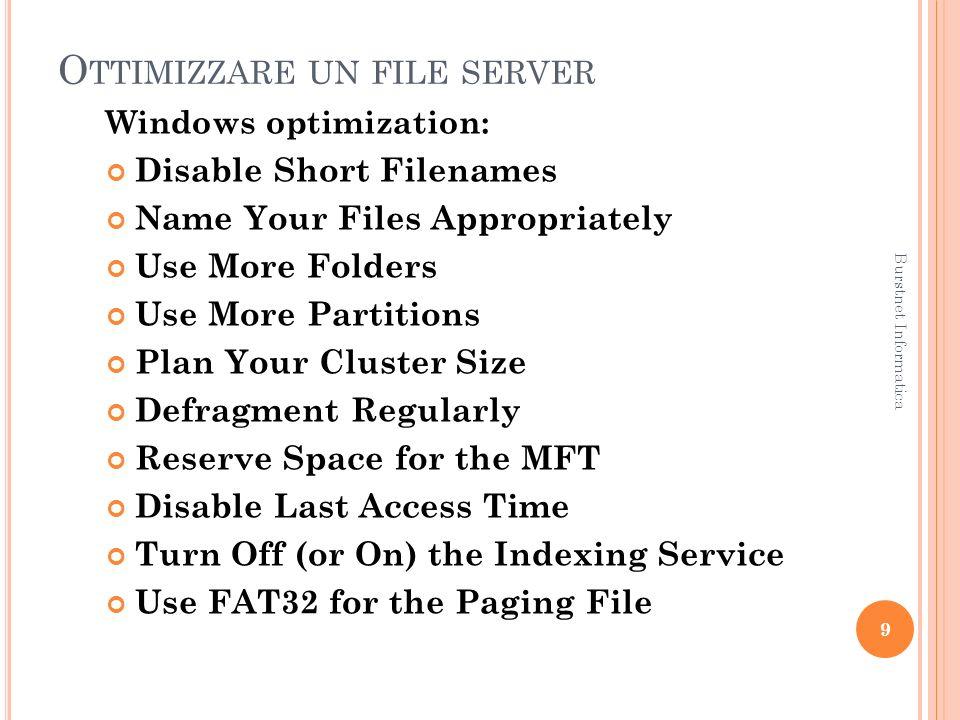 O TTIMIZZARE UN SERVER DNS Domain Name System (spesso indicato con DNS ) è un sistema utilizzato per la risoluzione di nomi di host in indirizzi IP e viceversa.