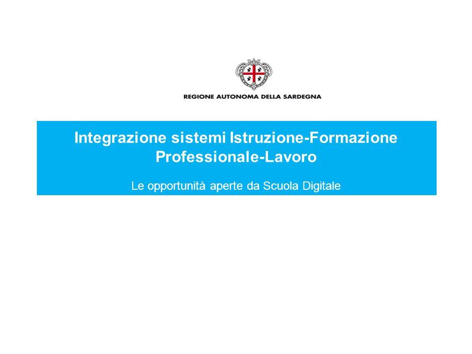 Integrazione sistemi Istruzione-Formazione Professionale-Lavoro Le opportunità aperte da Scuola Digitale