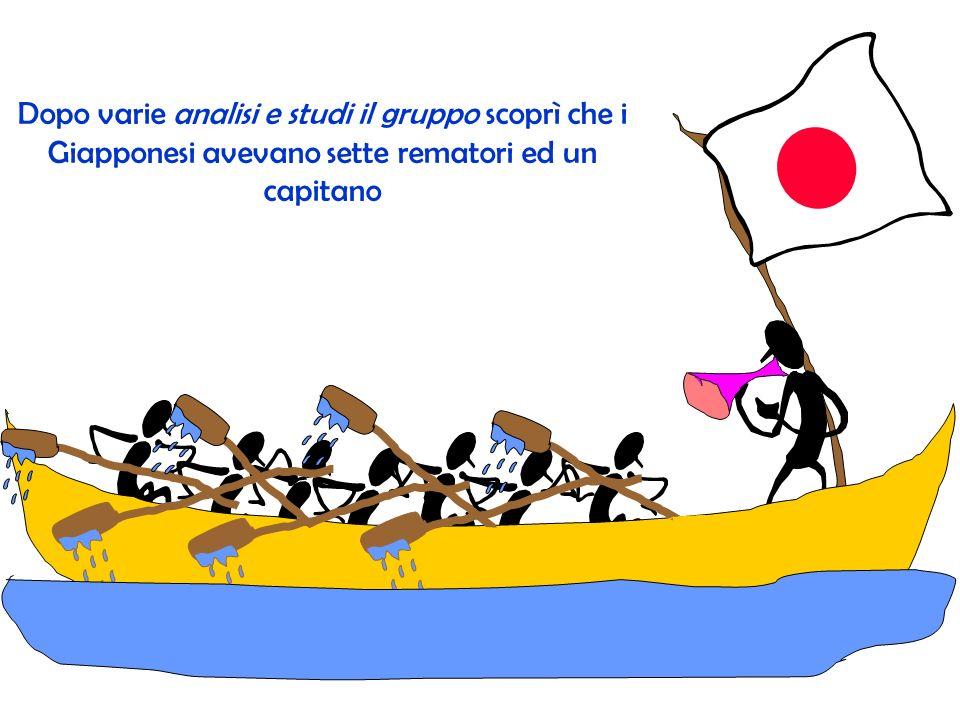 Dopo varie analisi e studi il gruppo scoprì che i Giapponesi avevano sette rematori ed un capitano