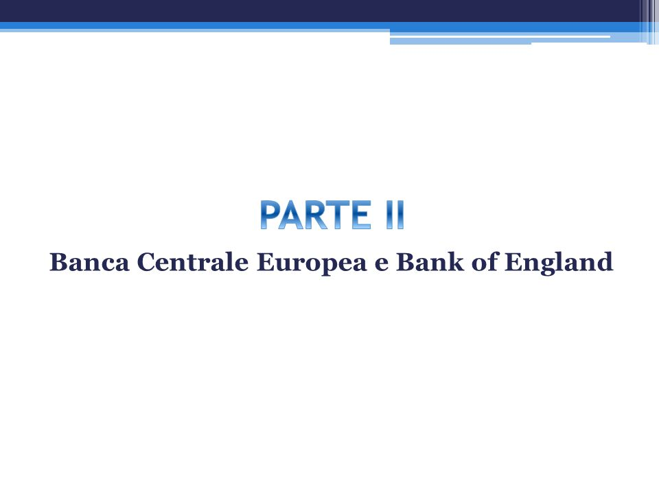 Banca Centrale Europea e Bank of England