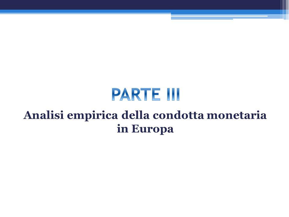 Analisi empirica della condotta monetaria in Europa