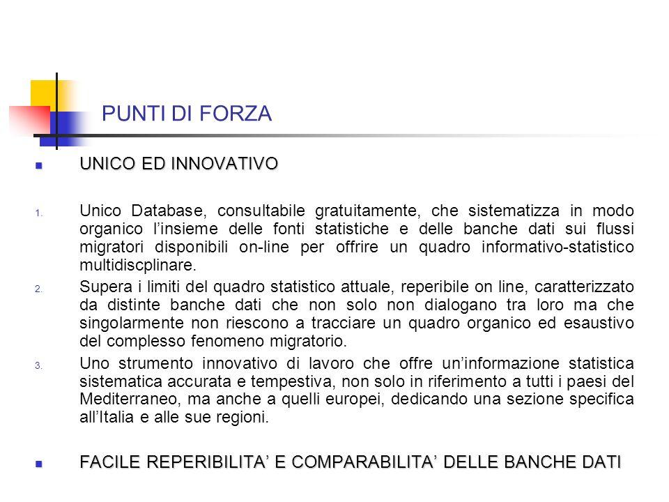 PUNTI DI FORZA UNICO ED INNOVATIVO UNICO ED INNOVATIVO 1.