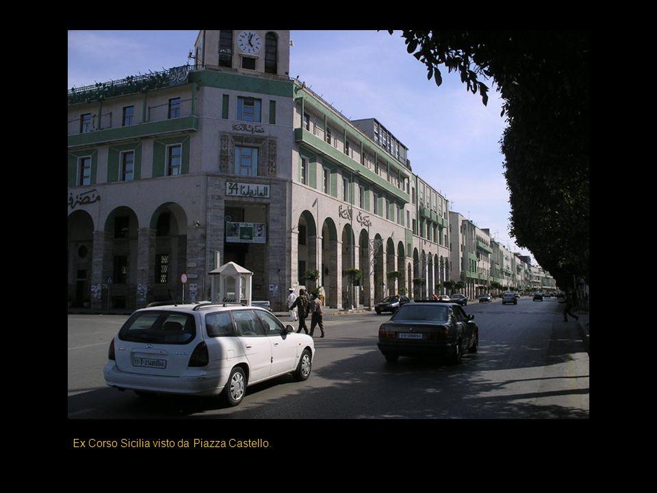 Ex Corso Sicilia visto da Piazza Castello.