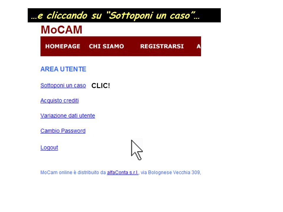 …e cliccando su Sottoponi un caso… CLIC!