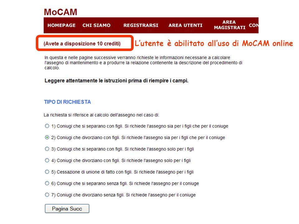 Lutente è abilitato alluso di MoCAM online