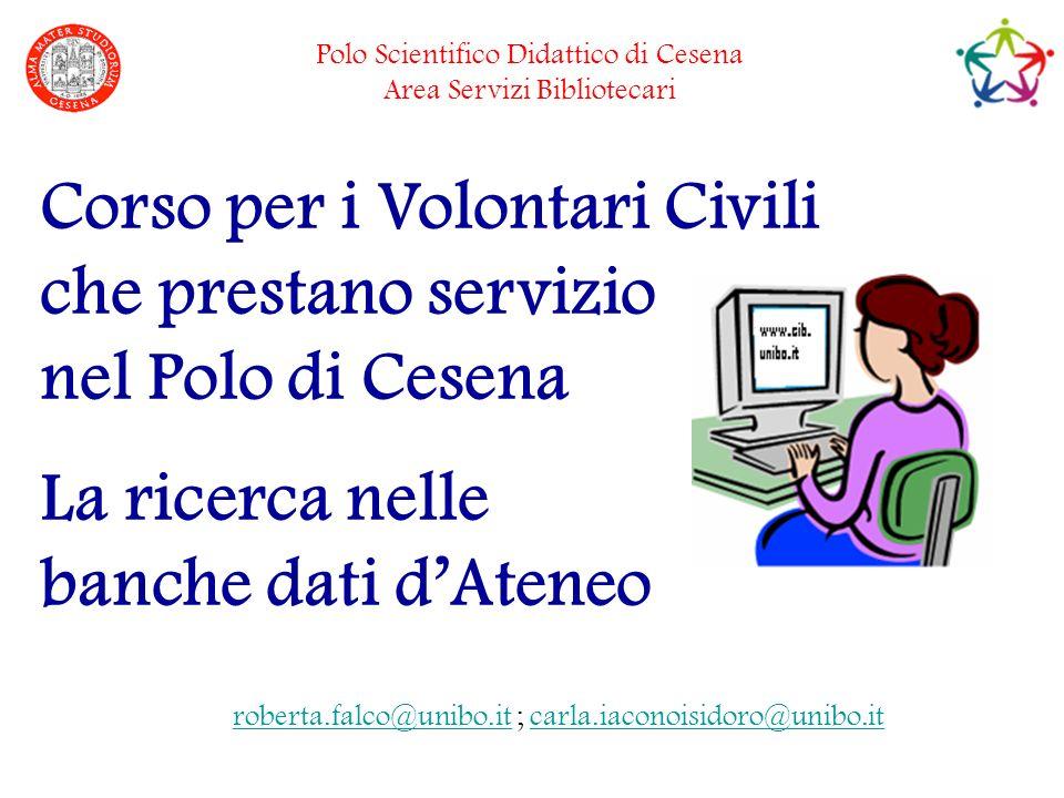 23/01/2009Le Banche dati dAteneo22