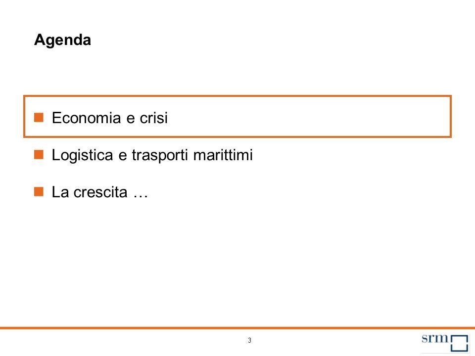 3 Agenda Economia e crisi Logistica e trasporti marittimi La crescita …