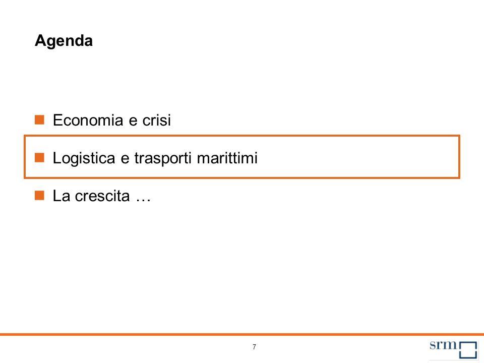 7 Agenda Economia e crisi Logistica e trasporti marittimi La crescita …