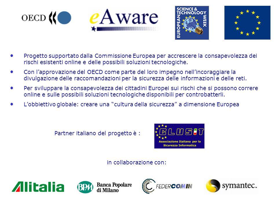Progetto supportato dalla Commissione Europea per accrescere la consapevolezza dei rischi esistenti online e delle possibili soluzioni tecnologiche.