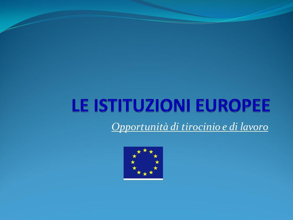 Unione europea Trattati, Istituzioni, storia dell integrazione europea EVOLUZIONE 1951/521957/581965/671986/871992/931997/992001/032007/09 Comunità europea del carbone e dell acciaio (CECA) Comunità europea dell energia atomica (CEEA o Euratom) Comunità economica europea (CEE)Comunità europea (CE) Comunità europee: CECA, CEEA, CEE Giustizi affari interni (GAI) Cooperazione giudiziaria e di polizia in materia penale(GAI) Politica estera e di sicurezza comune (PESC) U N I O N E E U R O P E A (U E) Trattato di Parigi Trattati di Roma Trattato di fusione Atto unico europeo Trattato di Maastricht Trattato di Amsterdam Trattato di Nizza Trattato di Lisbona I tre pilastri dell Unione europea (non più in vigore): Comunità europea (CE), Politica estera e di sicurezza comune (PESC), Cooperazione nei settori della giustizia e degli affari interni (GAI)