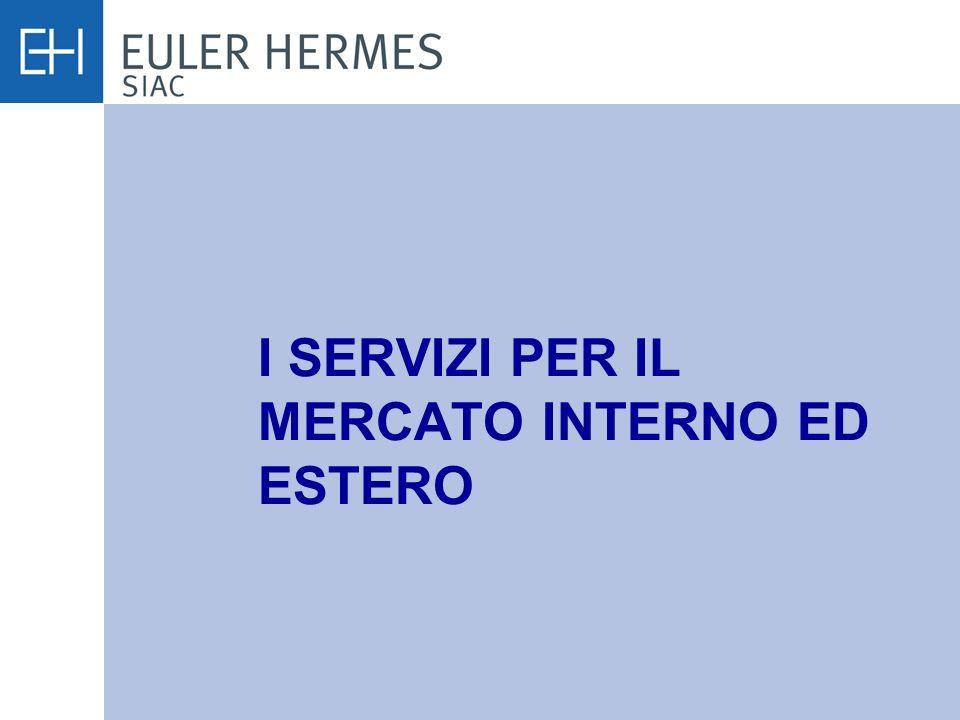 I SERVIZI PER IL MERCATO INTERNO ED ESTERO