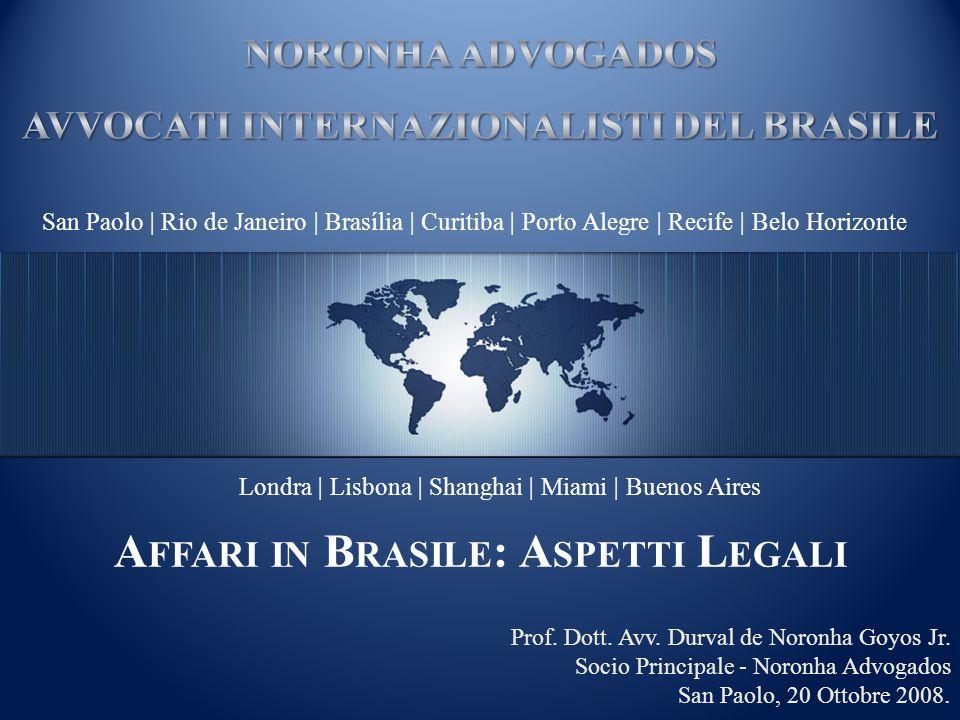 San Paolo | Rio de Janeiro | Brasília | Curitiba | Porto Alegre | Recife | Belo Horizonte Londra | Lisbona | Shanghai | Miami | Buenos Aires Prof. Dot