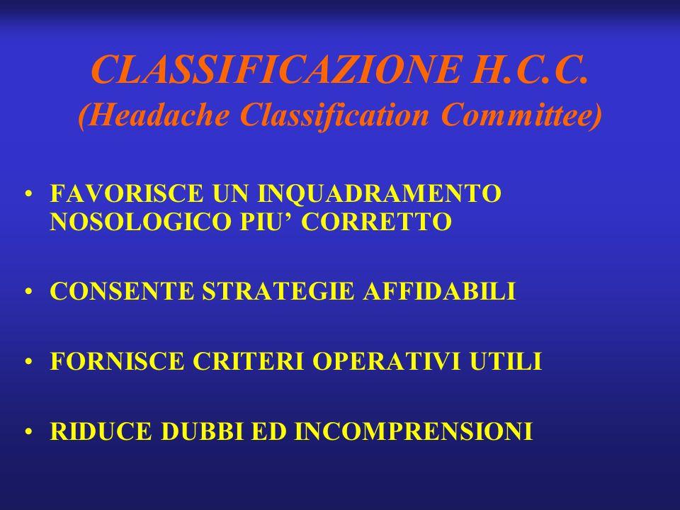 CLASSIFICAZIONE H.C.C.