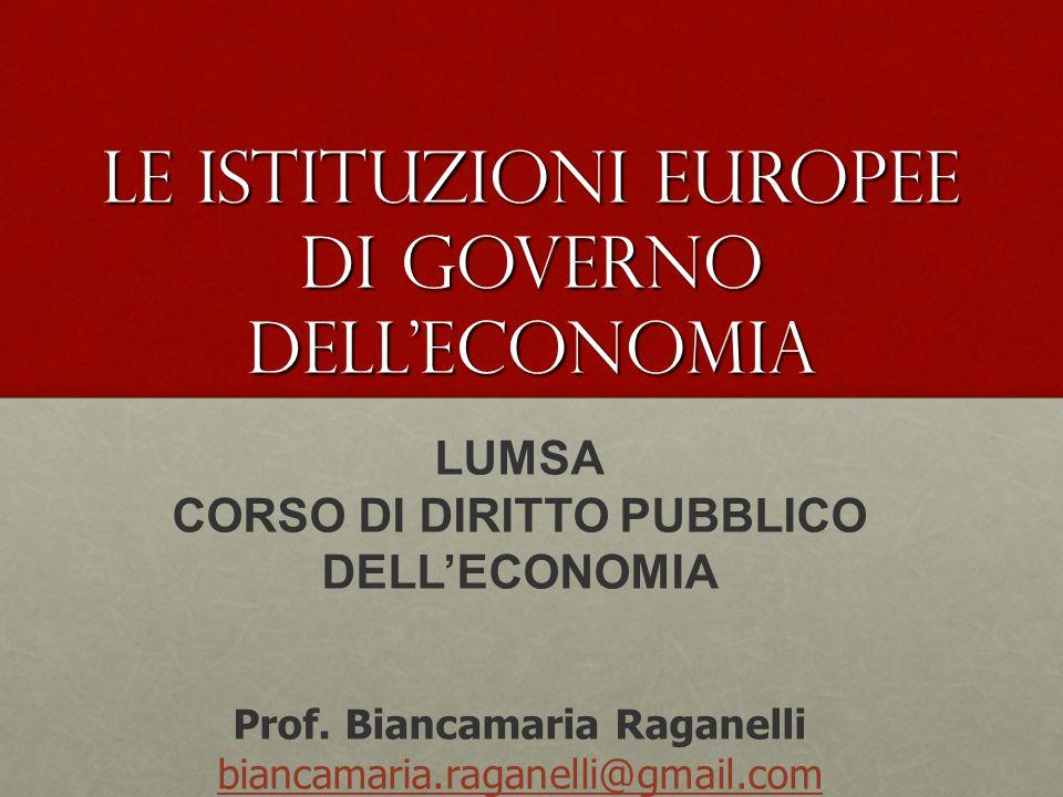 LUMSA CORSO DI DIRITTO PUBBLICO DELLECONOMIA Prof.