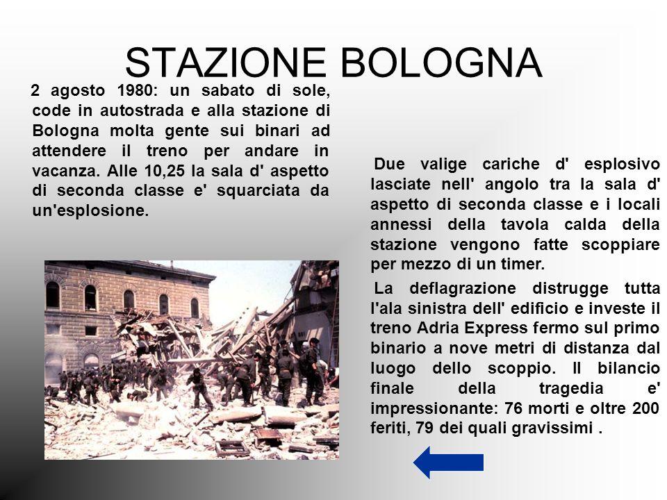 STAZIONE BOLOGNA 2 agosto 1980: un sabato di sole, code in autostrada e alla stazione di Bologna molta gente sui binari ad attendere il treno per anda