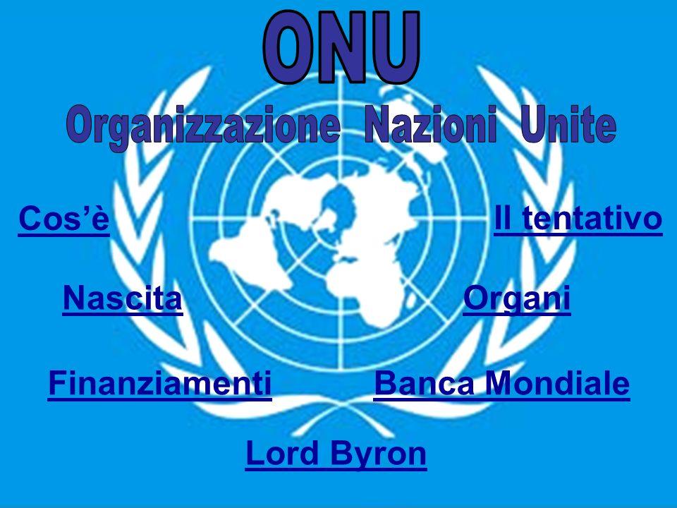 LONU è un organizzazione internazionale di stati.