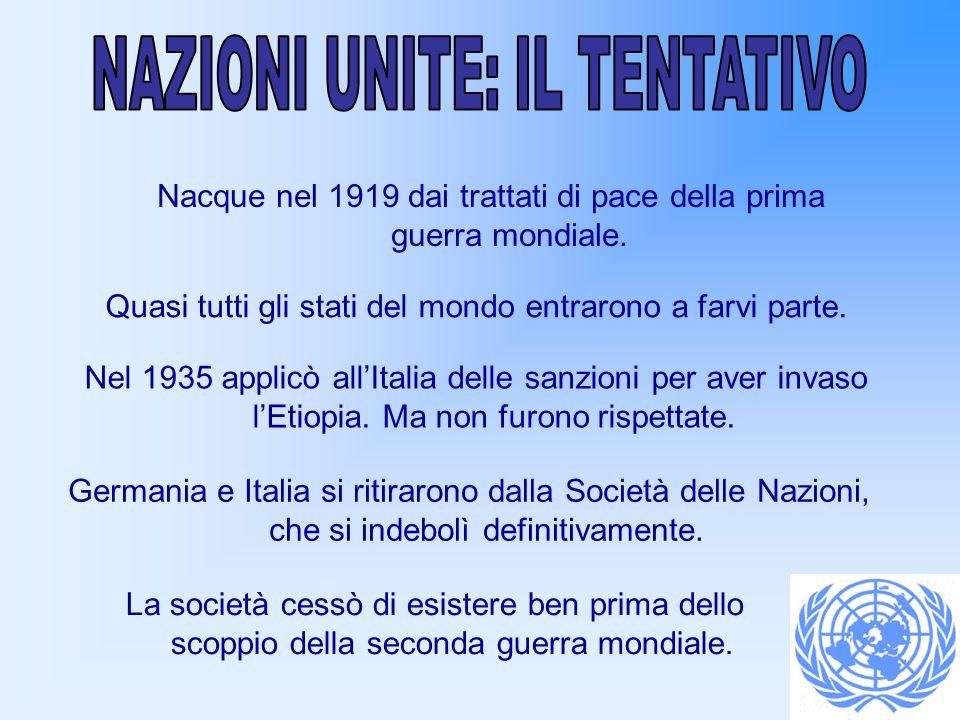 Dalla metà degli anni ottanta le Nazioni Unite sono entrate in profonda crisi finanziaria, aggravata dal mancato versamento delle quote da parte di vari paesi.