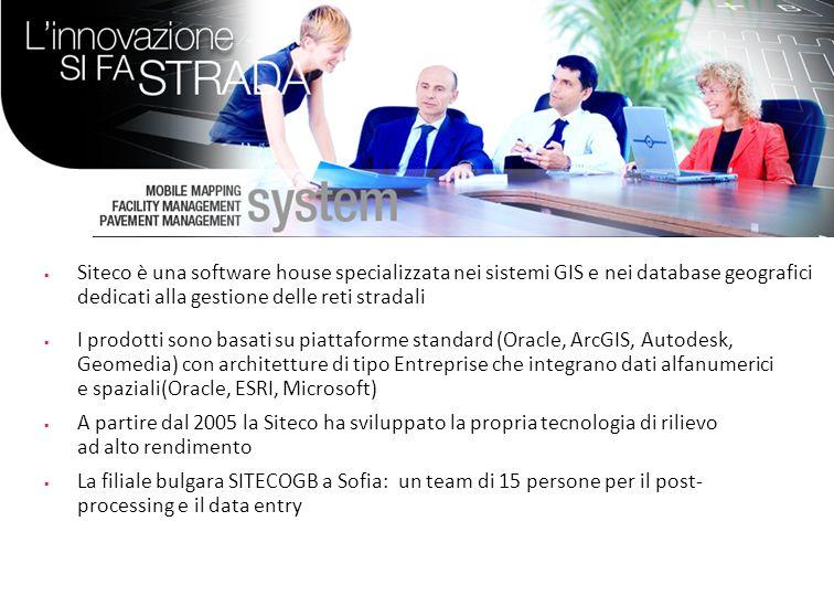 Profilo di Siteco Siteco è una software house specializzata nei sistemi GIS e nei database geografici dedicati alla gestione delle reti stradali I pro