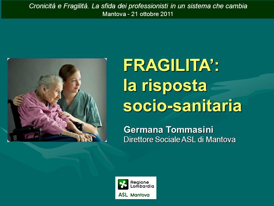 FRAGILITA: la risposta socio-sanitaria Germana Tommasini Direttore Sociale ASL di Mantova Cronicità e Fragilità. La sfida dei professionisti in un sis