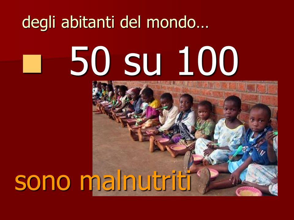 vivono in case povere 80 su 100 80 su 100 degli abitanti del mondo…