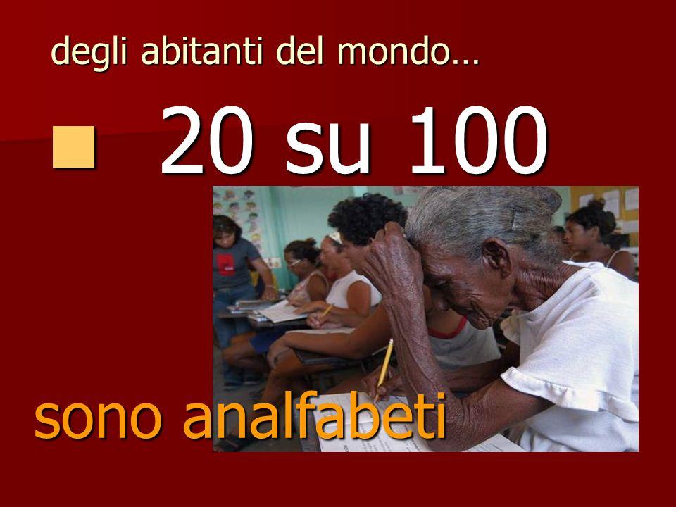 50 su 100 50 su 100 sono malnutriti degli abitanti del mondo…