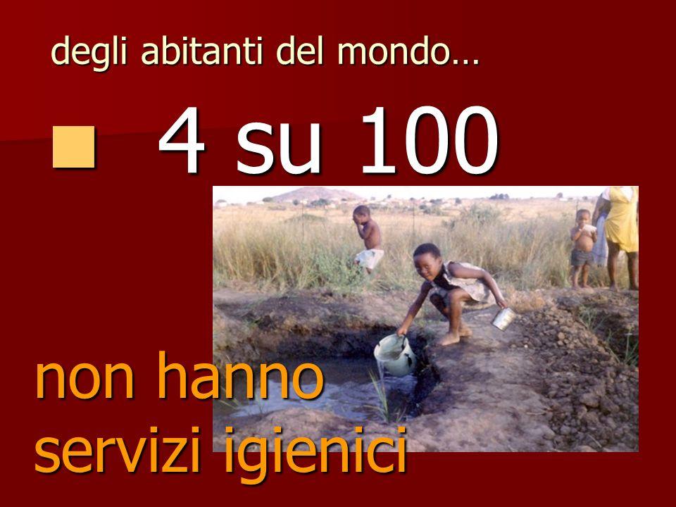 10 su 100 10 su 100 soffrono la fame degli abitanti del mondo…