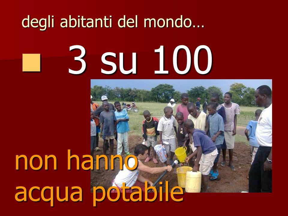 4 su 100 4 su 100 degli abitanti del mondo… non hanno servizi igienici