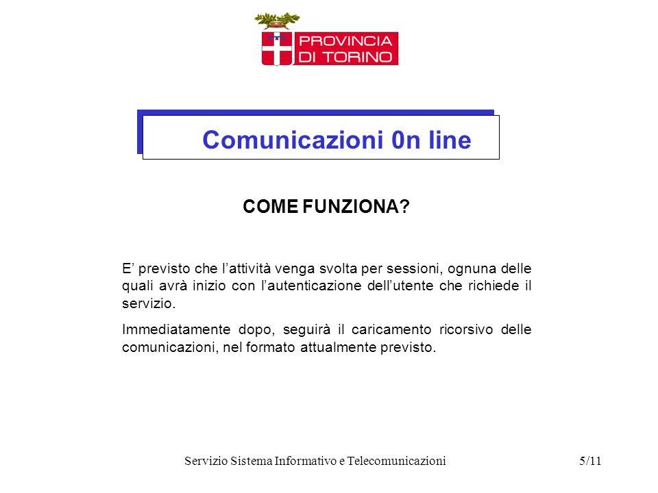 Comunicazioni 0n line Servizio Sistema Informativo e Telecomunicazioni5/11 COME FUNZIONA.