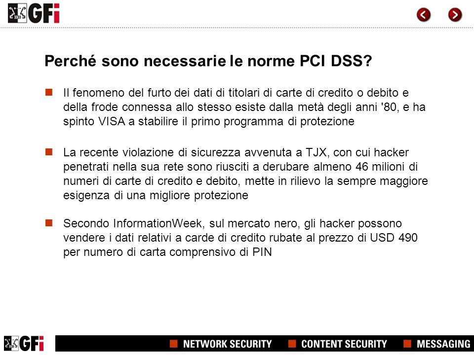 Perché sono necessarie le norme PCI DSS? Il fenomeno del furto dei dati di titolari di carte di credito o debito e della frode connessa allo stesso es
