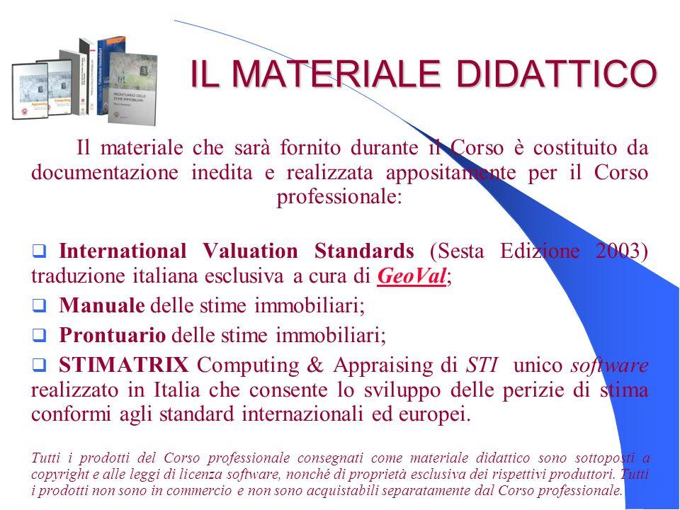 IL MATERIALE DIDATTICO IL MATERIALE DIDATTICO Il materiale che sarà fornito durante il Corso è costituito da documentazione inedita e realizzata appos