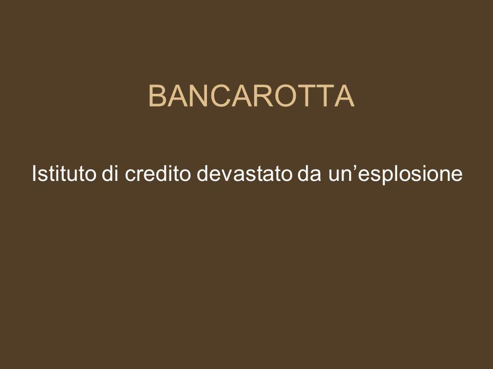 BANCARELLA Istituto di credito che svolge la sua attività nei giorni di mercato