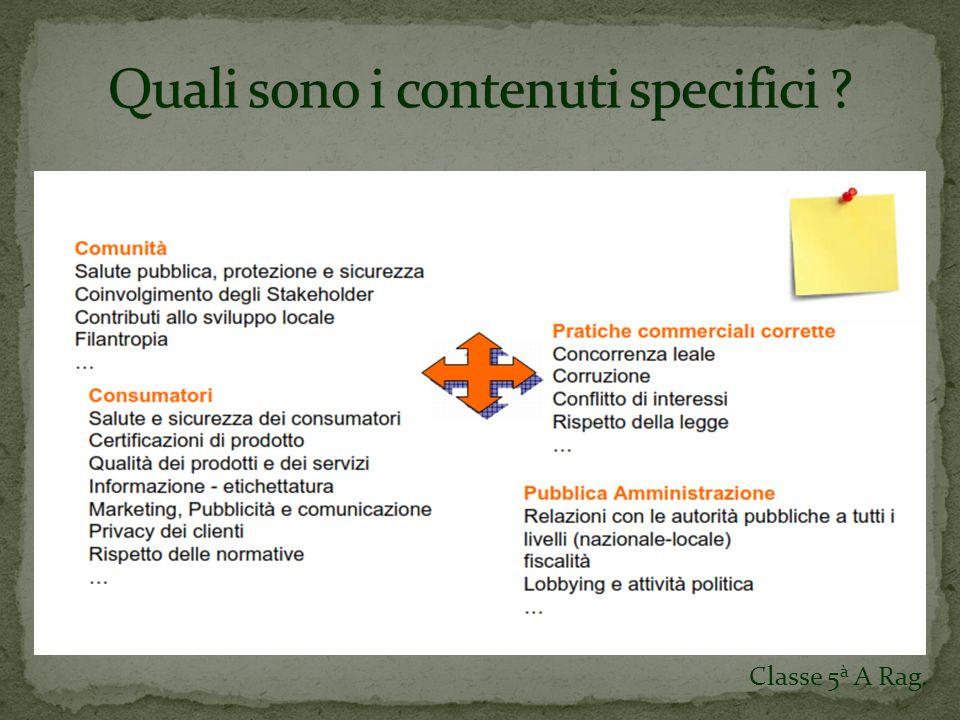 Due Prospetti bilancianti Determinazione del Valore Aggiunto Riparto del Valore Aggiunto Classe 5 à A Rag.