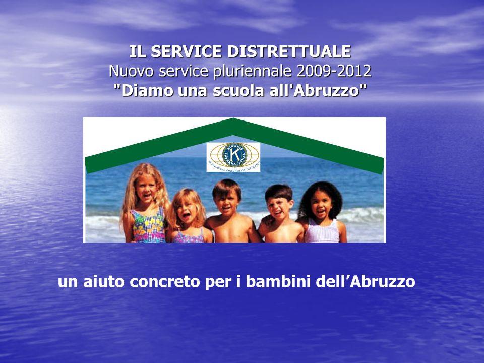 IL SERVICE DISTRETTUALE Nuovo service pluriennale 2009-2012