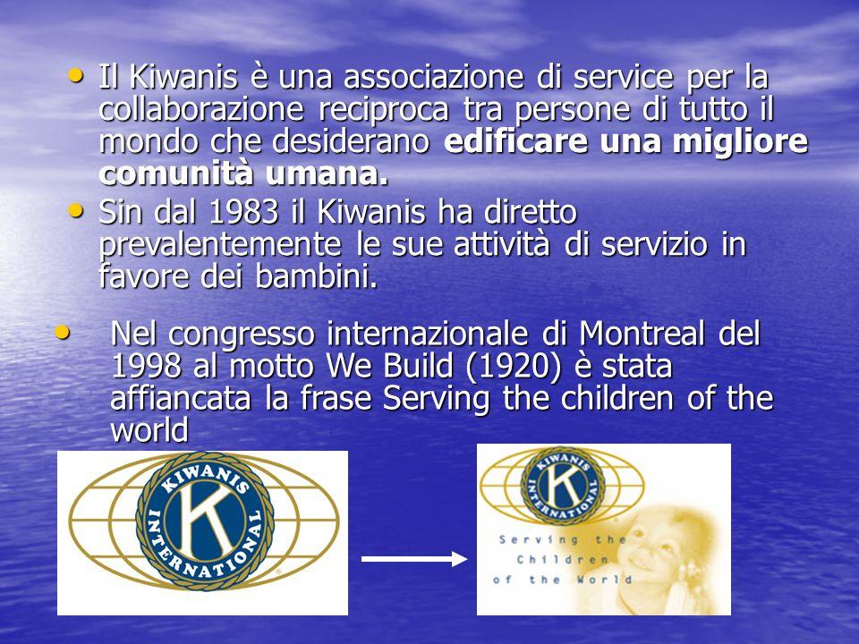 Il Kiwanis è una associazione di service per la collaborazione reciproca tra persone di tutto il mondo che desiderano edificare una migliore comunità
