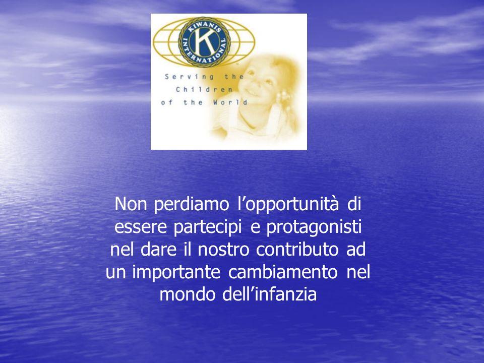 Non perdiamo lopportunità di essere partecipi e protagonisti nel dare il nostro contributo ad un importante cambiamento nel mondo dellinfanzia