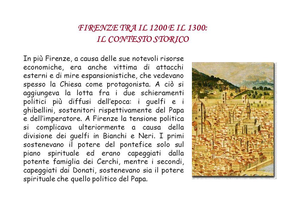 In più Firenze, a causa delle sue notevoli risorse economiche, era anche vittima di attacchi esterni e di mire espansionistiche, che vedevano spesso l