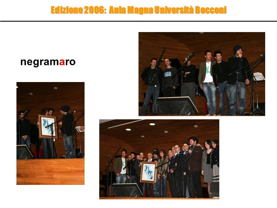 Edizione 2006: la giuria Presidente Anna Maria Bernardini De Pace Pres.