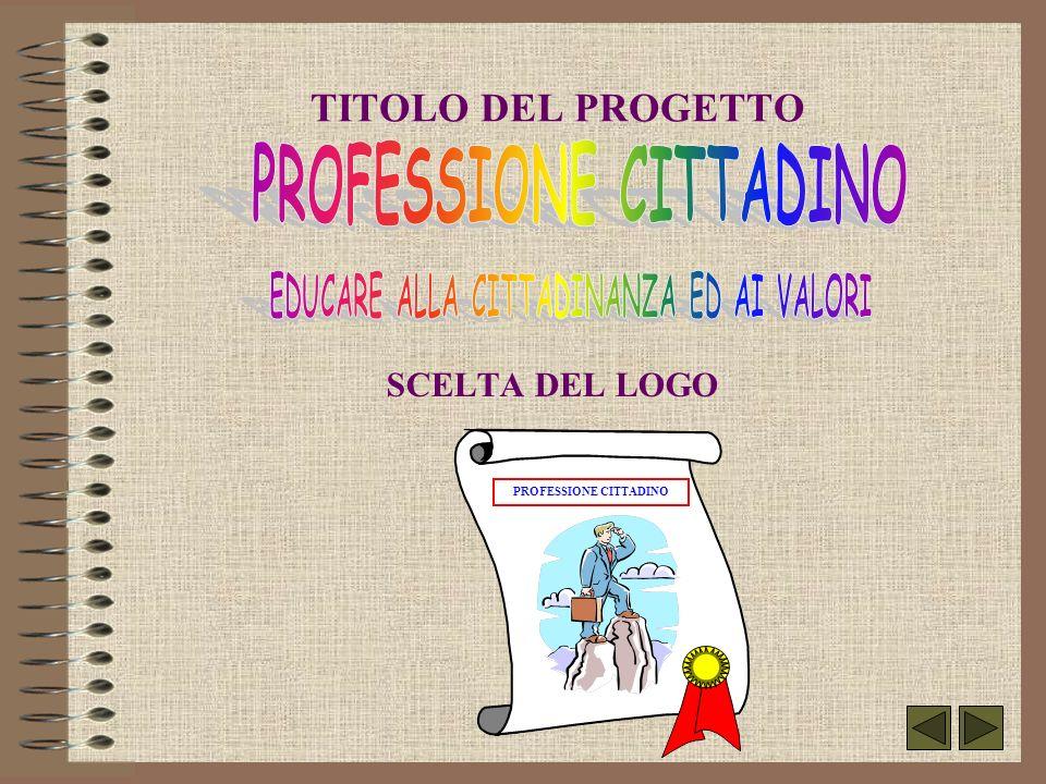 TITOLO DEL PROGETTO SCELTA DEL LOGO PROFESSIONE CITTADINO