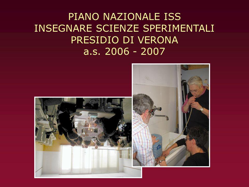 PIANO NAZIONALE ISS INSEGNARE SCIENZE SPERIMENTALI PRESIDIO DI VERONA a.s. 2006 - 2007