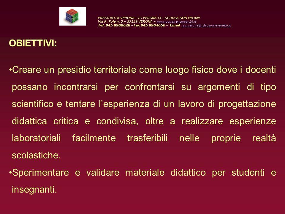 ISS - INSEGNARE SCIENZE SPERIMENTALI PRESIDIO DI VERONA – IC VERONA 14 - SCUOLA DON MILANI Via R.
