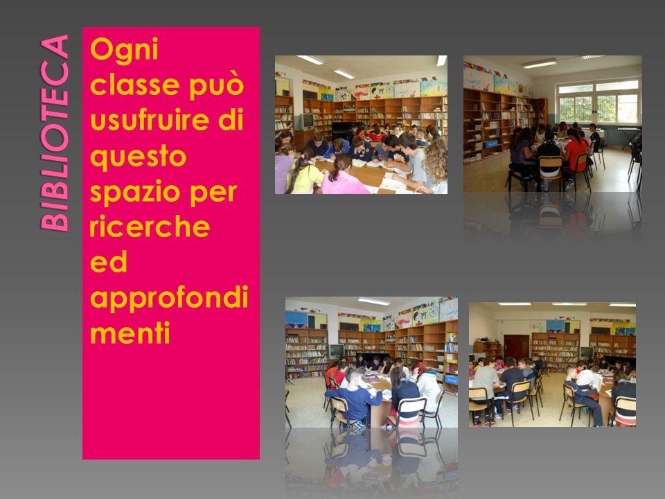 Ogni classe può usufruire di questo spazio per ricerche ed approfondi menti