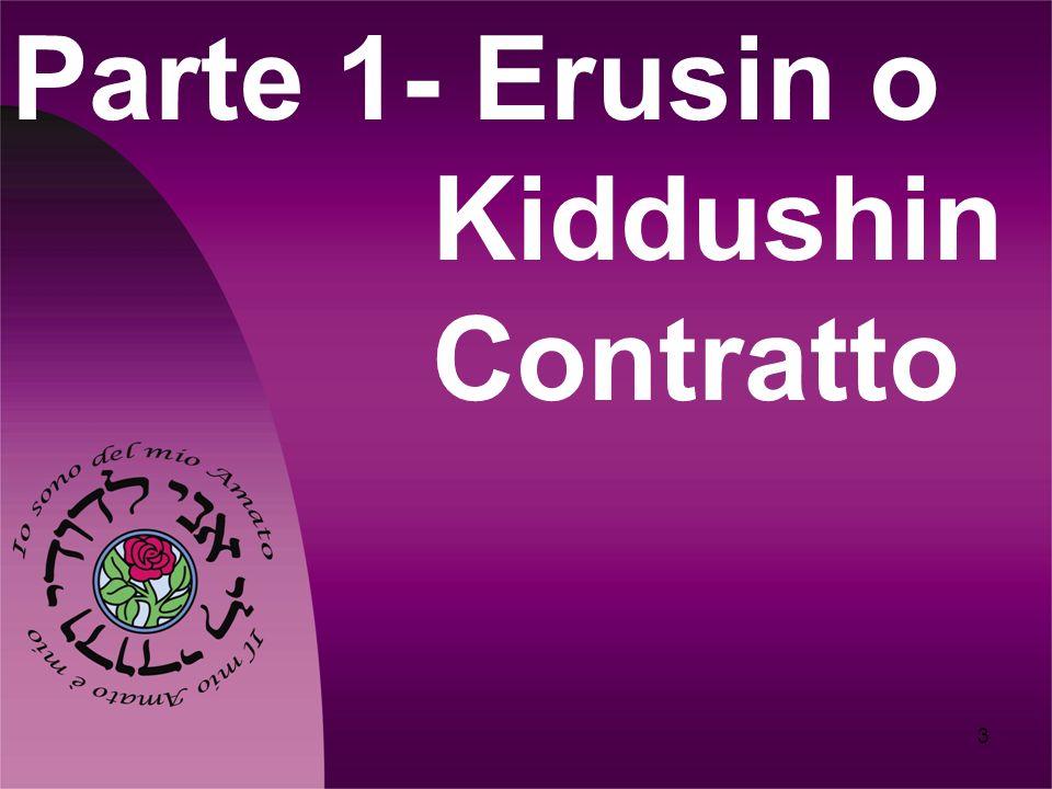 3 Parte 1- Erusin o Kiddushin Contratto