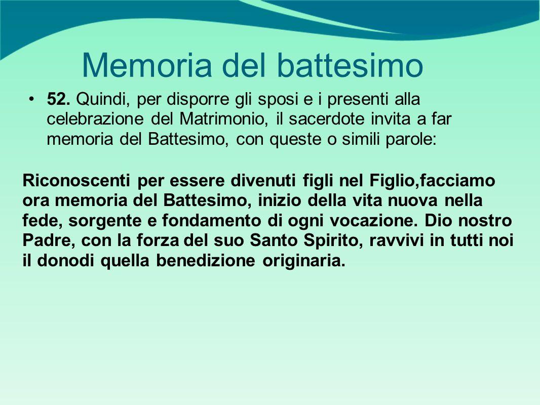 Memoria del battesimo 52.