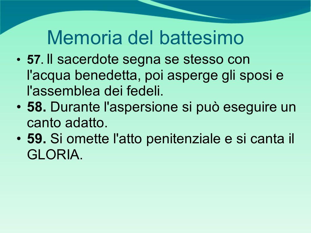 Memoria del battesimo 57.