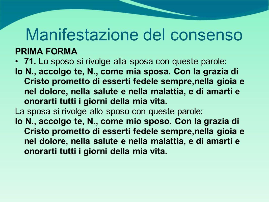 Manifestazione del consenso PRIMA FORMA 71.