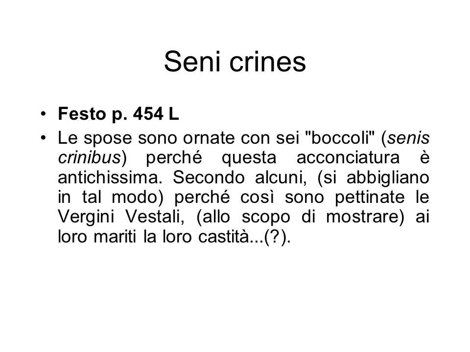 Seni crines Festo p. 454 L Le spose sono ornate con sei