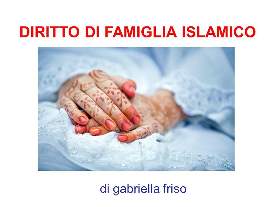 Il diritto di famiglia può essere considerato il nocciolo del Diritto islamico, ove più deciso risulta lintervento normativo del Corano.