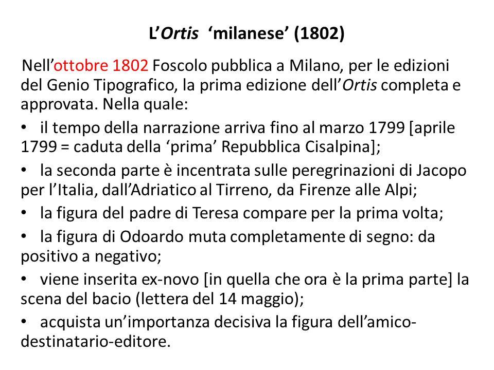 LOrtis dopo la Restaurazione 1816: edizione zurighese, con la falsa data di Londra.