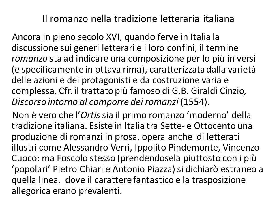La scelta della forma epistolare e il suo funzionamento nellOrtis Lautore reale del romanzo, Ugo Foscolo 1.non si firma; 2.presenta le Lettere come il frutto di un lavoro editoriale compiuto, come gesto di pietas e di amicizia, da tal Lorenzo Alderani.
