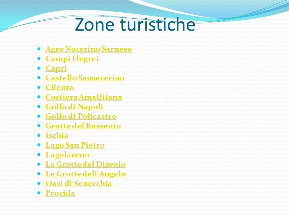 Zone turistiche Agro Nocerino Sarnese Campi Flegrei Capri Castello Sanseverino Cilento Costiera Amalfitana Golfo di Napoli Golfo di Policastro Grotte